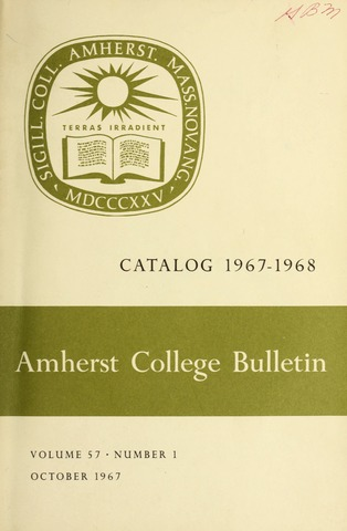 Amherst College Catalog 1967/1968