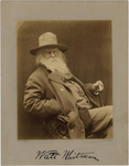 Walt Whitman, three-quarter length portrait, seated, 1887