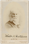 Walt Whitman, head-and-shoulders portrait, 1884