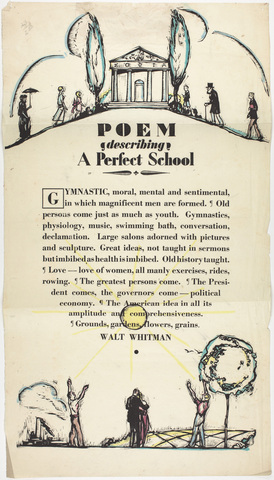 Poem describing a perfect school