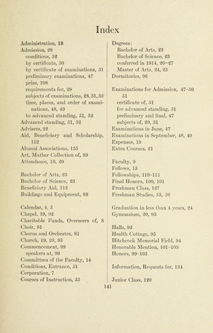 Amherst College Catalog 1914/1915