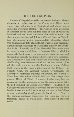 Amherst College Catalog 1938/1939