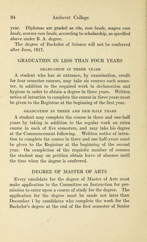 Amherst College Catalog 1913/1914