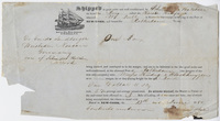 Edward Hitchcock receipt of shipment by Schmidt & Balchen, 1850 June 13