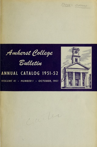 Amherst College Catalog 1951/1952