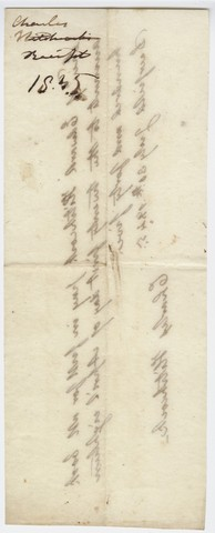 Edward Hitchcock receipt of payment to Charles Hitchcock, 1845 July 30