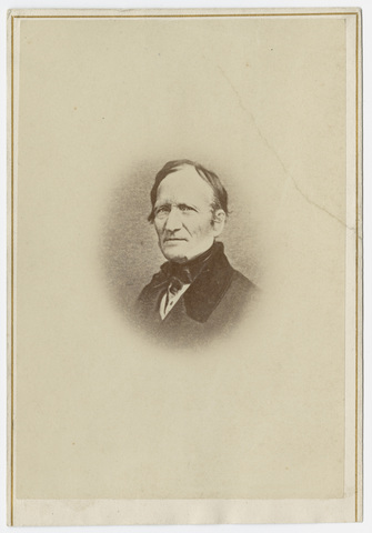 Edward Hitchcock, portrait, facing left, circa 1860
