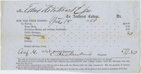 Edward Hitchcock receipt of payment to Amherst College, 1848 August 4
