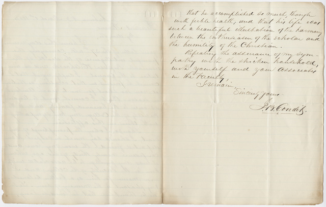 Jonathan Bailey Condit letter to William Augustus Stearns, 1864 March 1