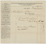Edward Hitchcock receipt of payment to Hippolyte Bailliere, 1853 May 15