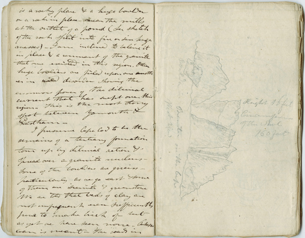 Edward Hitchcock geological survey notebook No. 1, 1830 July 29 to 1830 September 30