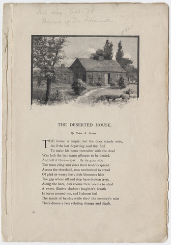 New England Magazine article on the Deerfield homestead of Edward Hitchcock