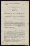 Great and Little Osage Indians: message of the President of the United States, in answer to a resolution of the House of the 13th ultimo, relative to the late treaty with the Great and Little Osage Indians