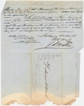 Edward Hitchcock receipt of payment to Baring Brothers & Co., 1850 May 14