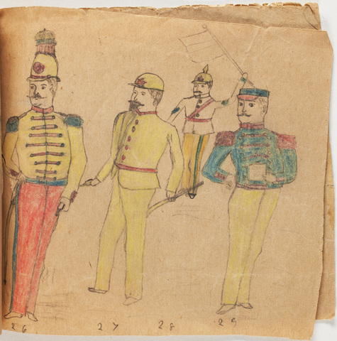 Book depicting military uniforms