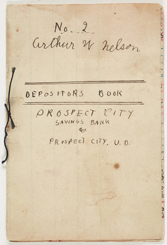 Prospect City Savings Bank depositors book for Arthur Nelson