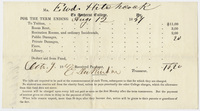 Edward Hitchcock receipt of payment to Amherst College, 1847 October 9