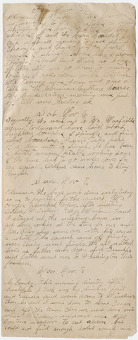 Nelson brothers diary fragment