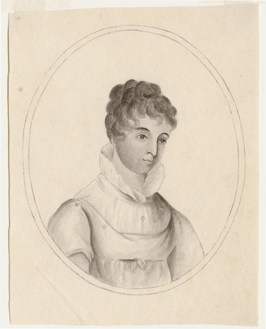 Portrait of a woman facing right