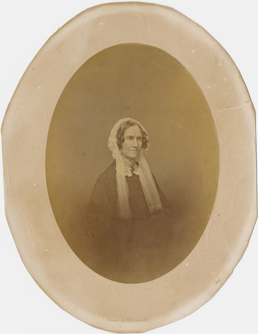 Orra White Hitchcock, oval head and shoulders portrait, facing right