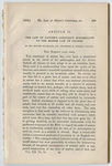 The law of nature's constancy subordinate to the higher law of change