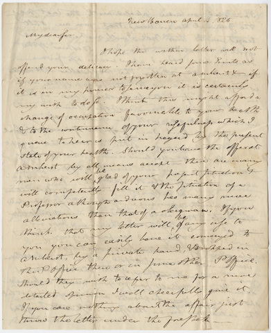 Benjamin Silliman letter to Edward Hitchcock, 1825 April 4