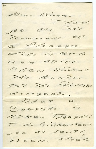 Emily Dickinson letter to Mrs. (Katherine) Prince