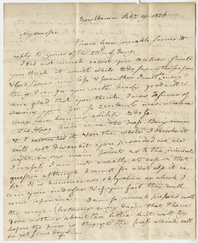 Benjamin Silliman letter to Edward Hitchcock, 1826 February 19