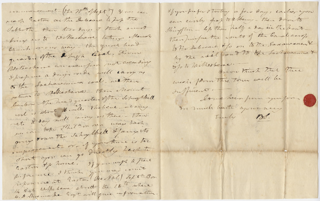 Benjamin Silliman letter to Edward Hitchcock, 1828 August 20