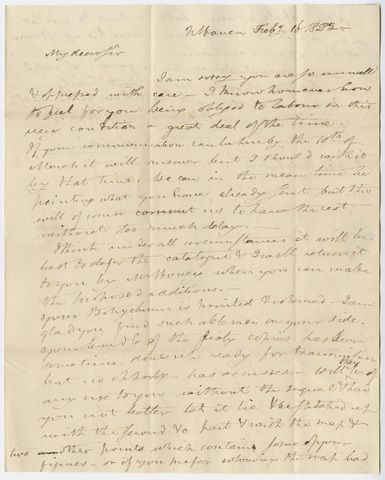 Benjamin Silliman letter to Edward Hitchcock, 1823 February 16