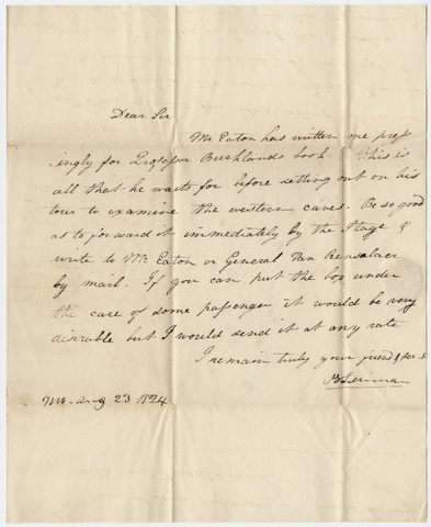 Benjamin Silliman letter to Edward Hitchcock, 1824 August 23