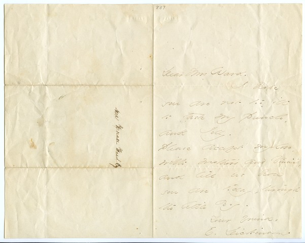 Emily Dickinson letter to Mrs. Horace Ward