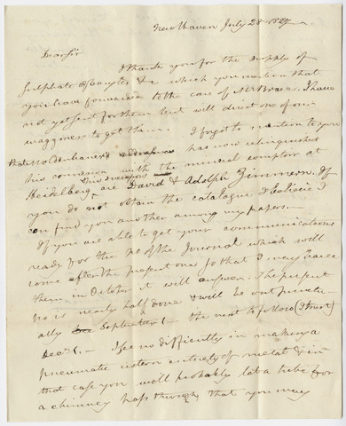 Benjamin Silliman letter to Edward Hitchcock, 1827 July 28