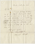 Governor Edward Everett letter to Edward Hitchcock, 1838 June 11