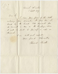 Governor Edward Everett letter to Edward Hitchcock, 1837 September 1