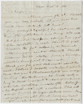 Benjamin Silliman letter to Edward Hitchcock, 1831 October 10