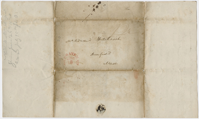 Benjamin Silliman letter to Edward Hitchcock, 1820 August 18