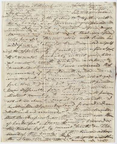 Gideon Mantell letter to Edward Hitchcock, 1845 July 11