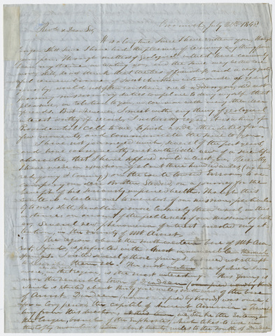 Justin Perkins letter to Edward Hitchcock, 1848 July 20