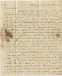 George White letter to Orra White Hitchcock, 1833 September 23