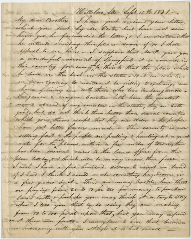 Bela White letter to George White, 1831 September 15