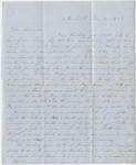 Orra White Hitchcock letter to Edward Hitchcock, Jr., 1852 November 14