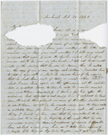 Orra White Hitchcock letter to Bela White, 1846 October 26
