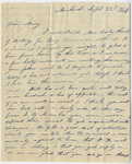 Orra White Hitchcock letter to Mary Hitchcock, 1843 September 23