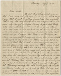 Edward Hitchcock, Jr. letter to Orra White Hitchcock, 1844 May 8