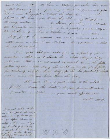 Orra White Hitchcock letter to Edward Hitchcock, Jr., 1855 February 22