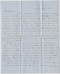Orra White Hitchcock and Jane Hitchcock letter to Edward Hitchcock, Jr., 1852 May 1