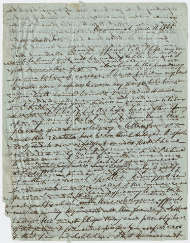 Justin Perkins letter to Edward Hitchcock, 1847 June 11