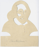 Orra White Hitchcock cut-paper silhouette of Shakespeare