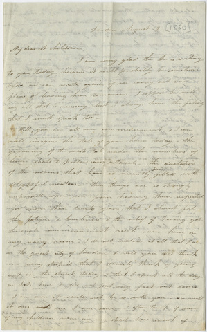 Orra White Hitchcock letter to the Hitchcock children, 1850 August 12